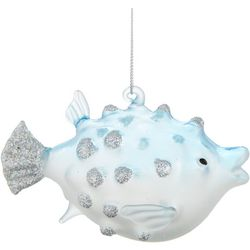 Puffer Fish Glitter Ornament