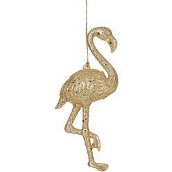 Brighten the Season Standing Flamingo Glitter Ornament