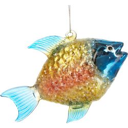 Brighten the Season Fish Ombre Glitter Ornament