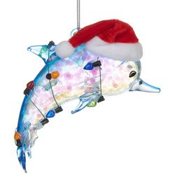Brighten the Season Dolphin & String Lights Ornament