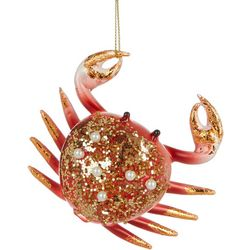 Brighten the Season Crab Beaded Glass Ornament