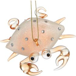 Glitter Clear Crab Ornament
