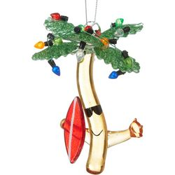 Brighten the Season Palm Tree & Surfboard Ornament
