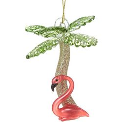 Palm Tree & Flamingo Ornament