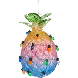 Ombre Pineapple & String Lights Ornament