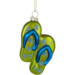Brighten the Season Flip Flops Floral Ornament