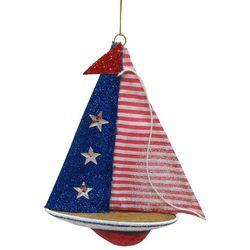 Brighten the Season Americana Sailboat Ornament