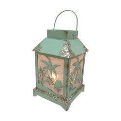 Brighten the Season LED Palm Tree Sunset Lantern