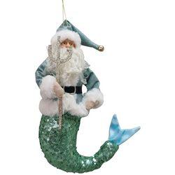 Santa Mermaid Plush Ornament