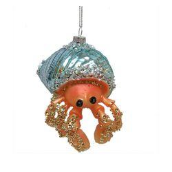 Brighten the Season Glitter Hermit Crab Ornament