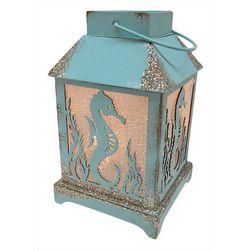 LED Seahorse Glitter Lantern Decor