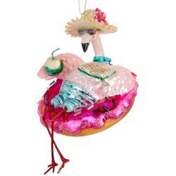 Flamingo & Pool Float Ornament