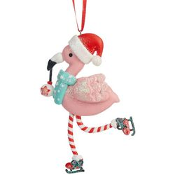 Skating Flamingo Ornament