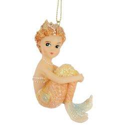 Brighten the Season Mermaid Sitting Shimmer Tail Ornament