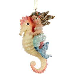Mermaid & Seahorse Sequin Ornament