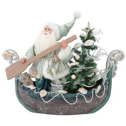 Sandy Shore Santa In A Boat Decor