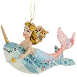 Brighten the Season Mermaid & Narwhale Ornament