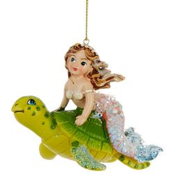 Mermaid & Sea Turtle Ornament