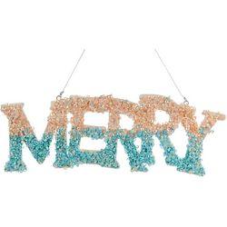Merry Glitter Sign Ornament