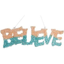 Believe Glitter Sign Ornament