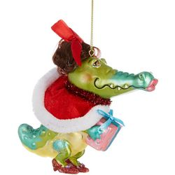 Brighten the Season Lady Gator & Gift Ornament