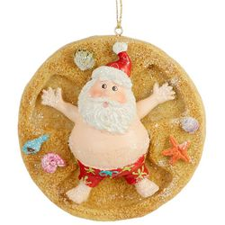 Santa Sand Snow Angel Ornament