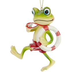 Brighten the Season Frog & Lifesaver Ring Ornament