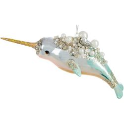 Brighten the Season Beaded Narwhale Ornament
