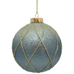 Brighten the Season Fish Net Ombre Ball Ornament