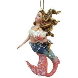 Brighten the Season Mermaid Shell & Pearl Ornament