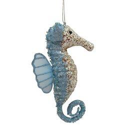 Brighten the Season Glittered Seahorse Ornament