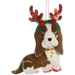 Dog & Antler Headband Ornament