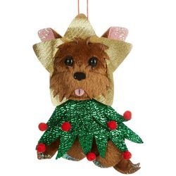 Dog & Christmas Tree Costume Ornament