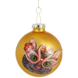 Cat & Flamingo Glasses Ornament