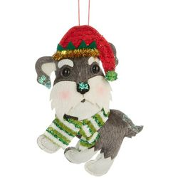 Schnauzer Dog & Scarf Ornament