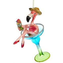 Martini Flamingo Ornament
