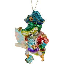 Brighten the Season Pirate Gator Ornament