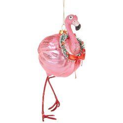 Brighten the Season Balloon Flamingo & Wreath Ornament