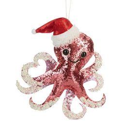 Brighten the Season Octopus & Santa Hat Ornament