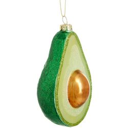Brighten the Season Avocado Glass Ornament