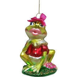 Brighten the Season Frog Princess & Leaf Ornament