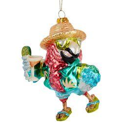 Brighten the Season Beach Parrot Ornament