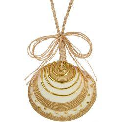Brighten the Season Clam Shell Ornament