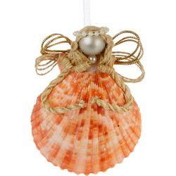 Brighten the Season Seashell Angel Ornament