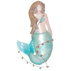 Brighten the Season Capiz Mermaid Ornament