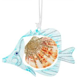 Brighten the Season Fish Shell Tin Ornament