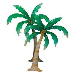 Brighten the Season Capiz Double Palm Tree Ornament