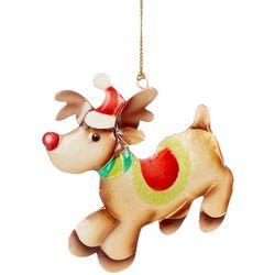 Brighten the Season Leaping Metal Reindeer Ornament