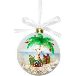 Brighten the Season Palm Tree Capiz Ball Ornament