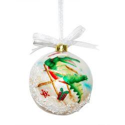 Brighten the Season Gator Capiz Ball Ornament